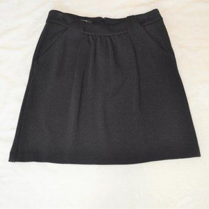 Alfani Petite 4P Black Ponte A-line Skirt